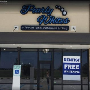 Pearland Dental clinic outside view of pearly whites